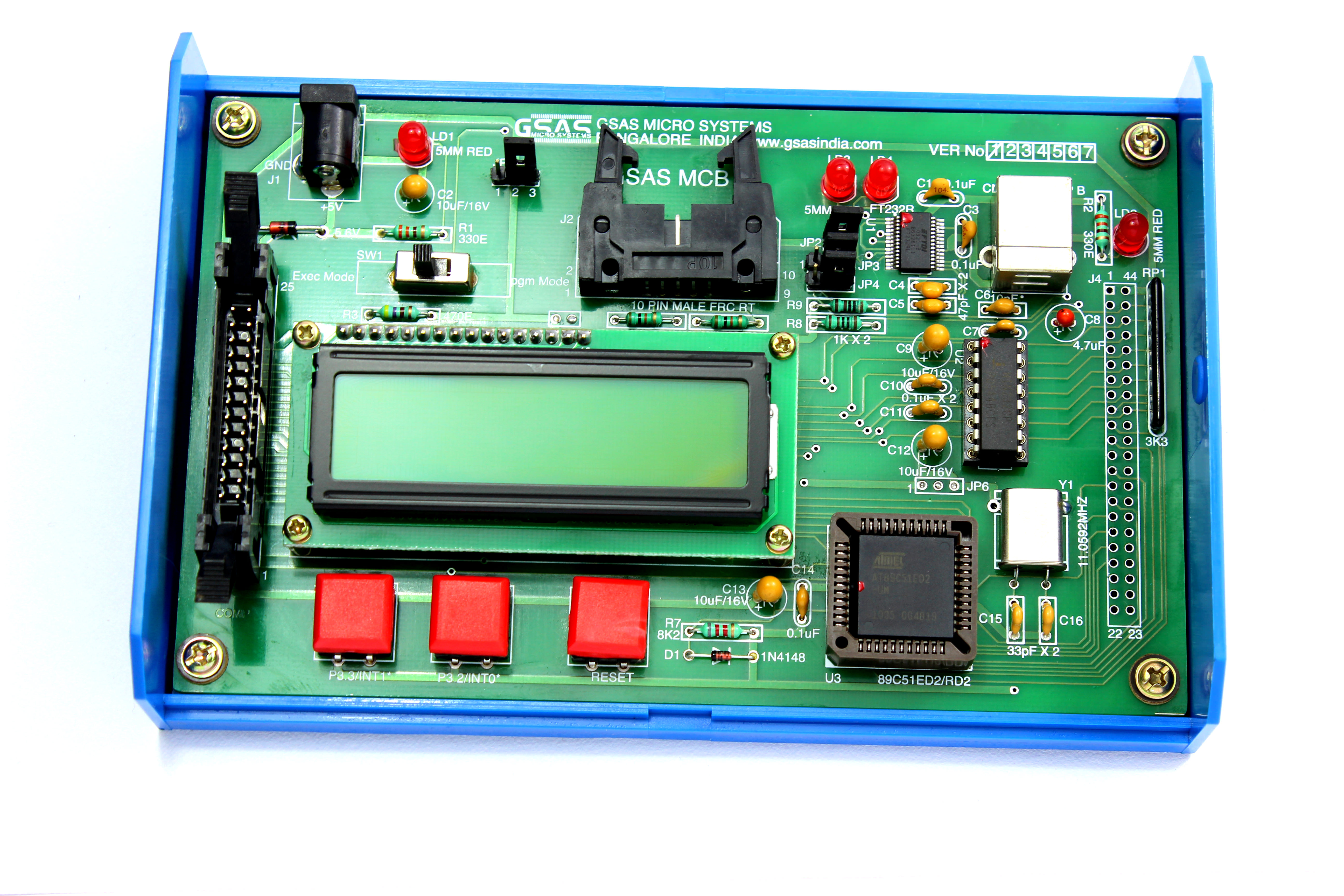 Gsas Mcb 51 Micro Systems Circuit The Simulation Consist Of A Microcontroller Chip Pic Mcb51